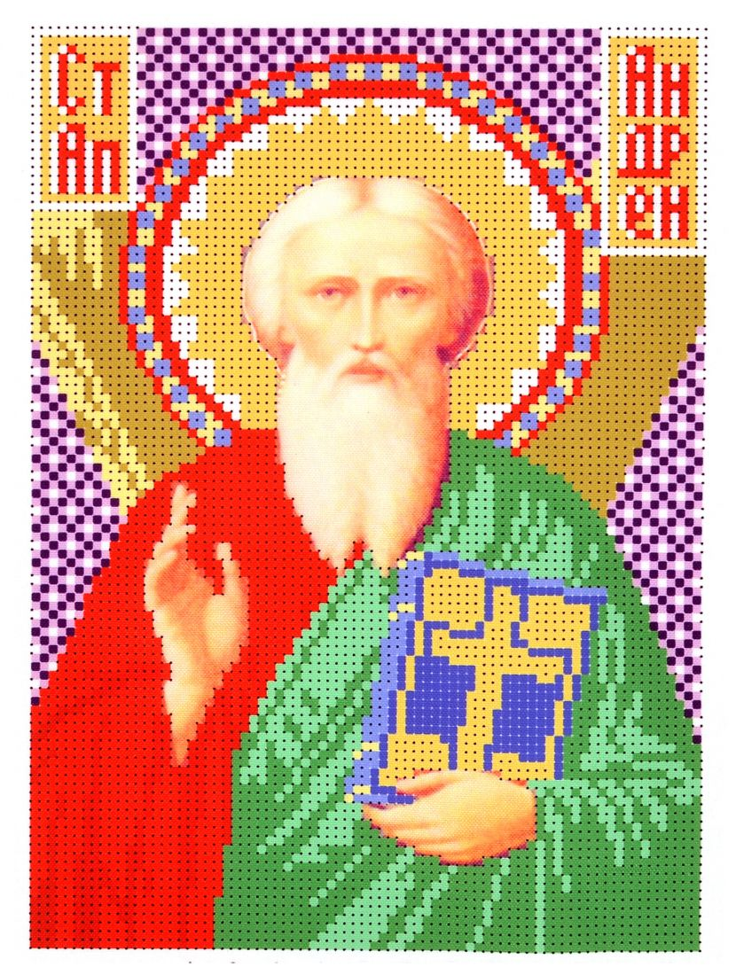 Набор для вышивания бисером «Андрей Первозванный» икона