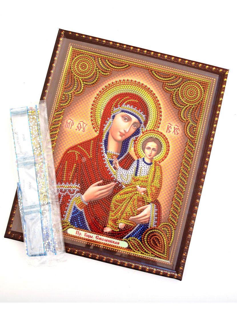 Алмазная мозаика на подрамнике «Божией матери Смоленская» икона
