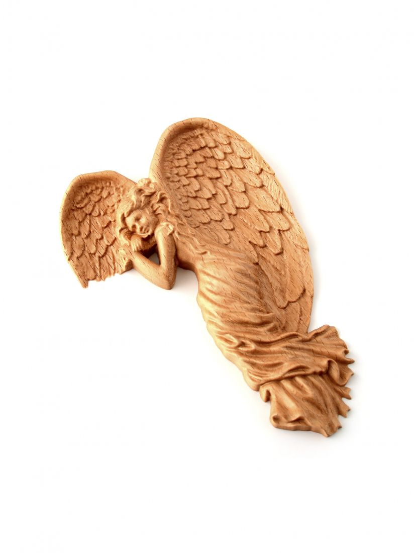 Ангел на уголок двери из бука, резной