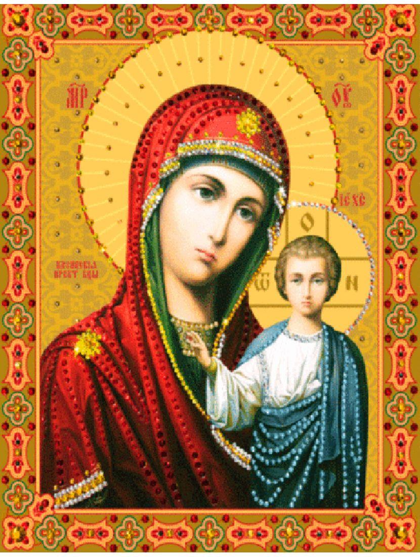 Алмазная мозаика «Божьей Матери Казанская» икона