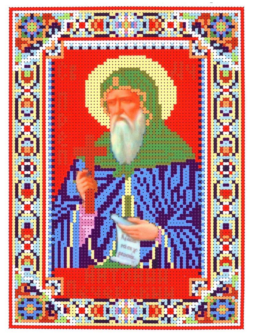 Набор для вышивания бисером «Святой мученик Преподобный Антоний Печерский» икона