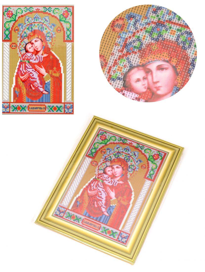Алмазная мозаика на подрамнике «Божией Матери Владимирская» икона