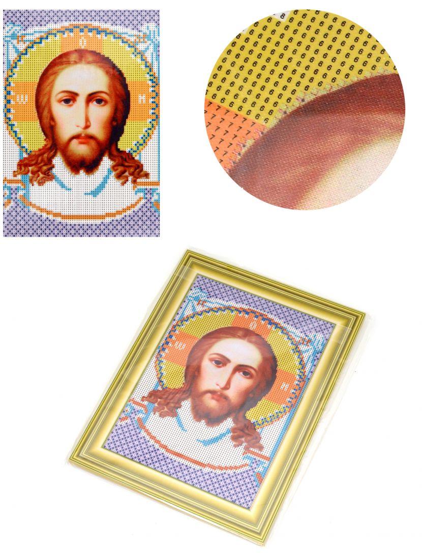 Алмазная мозаика на подрамнике «Спас Нерукотворный» икона