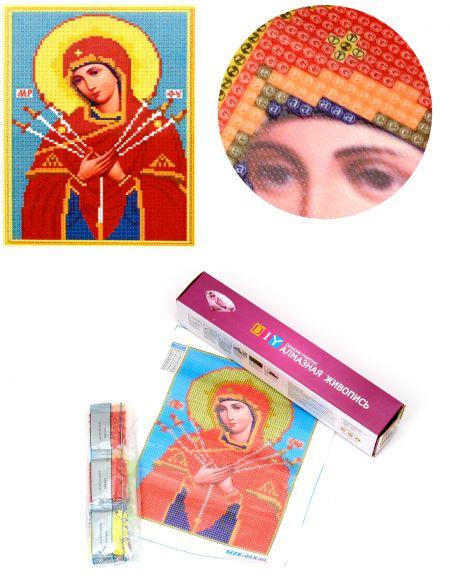Алмазная мозаика «Божией матери Умягчение Злых Сердец» икона