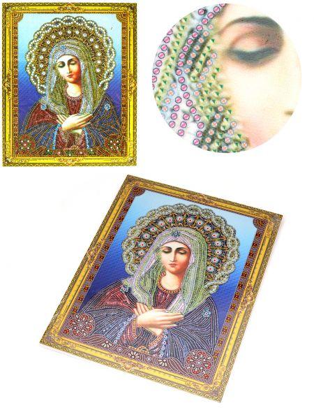 Алмазная мозаика на подрамнике «Божией Матери Умиление» икона
