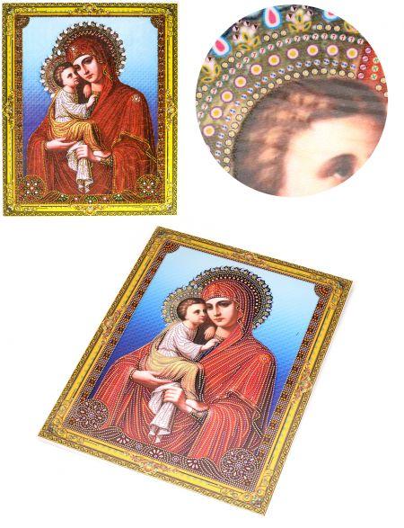 Алмазная мозаика на подрамнике «Божией Матери Феодоровская» икона