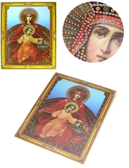 Алмазная мозаика на подрамнике «Божией Матери Державная» икона
