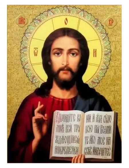 Алмазная мозаика на подрамнике «Спаситель» икона