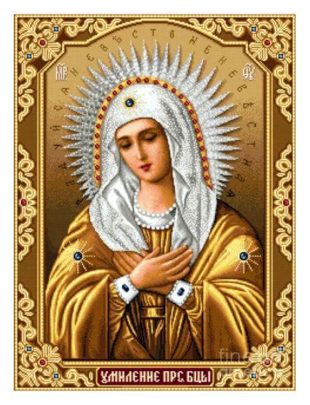 Алмазная мозаика на подрамнике «Божией Матери. Умиление» икона