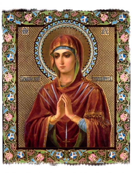 Алмазная мозаика на подрамнике «Божьей матери. Умягчение злых сердец» икона