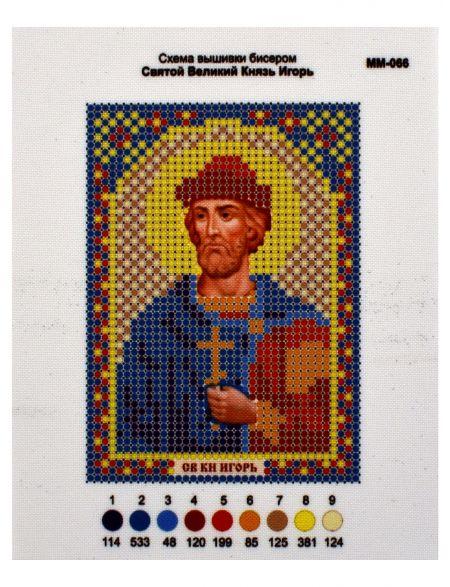Схема для вышивания бисером «Святой Князь Игорь» икона