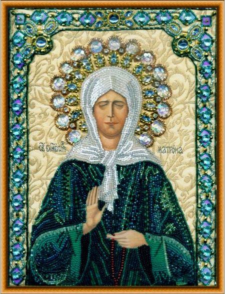 Алмазная мозаика на подрамнике «Святая Матрона Московская» икона