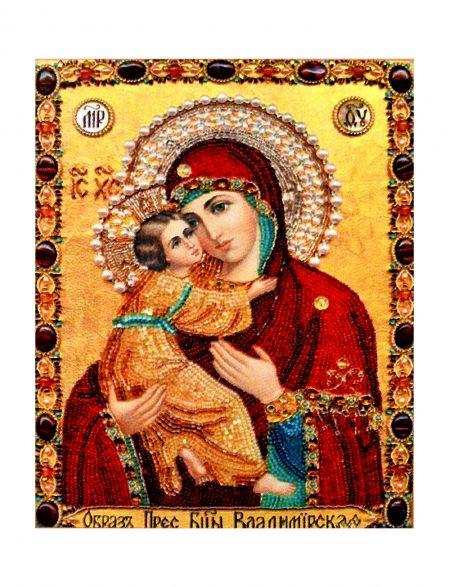 Алмазная мозаика на подрамнике «Божией Матери. Владимирская» икона