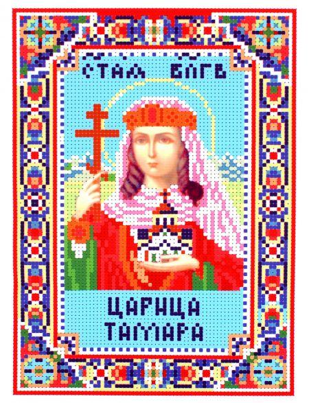 Схема для вышивания бисером «Святая царица Тамара» икона