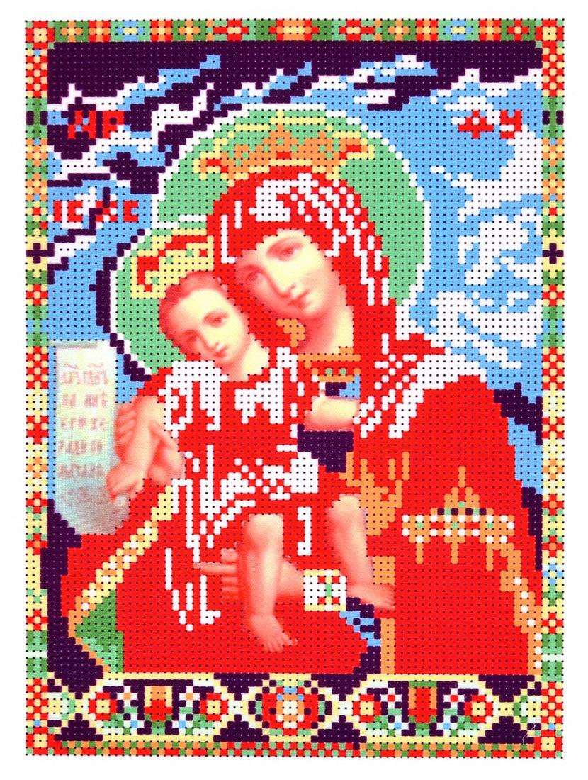 Схема для вышивания бисером «Божией Матери Достойно Есть» икона