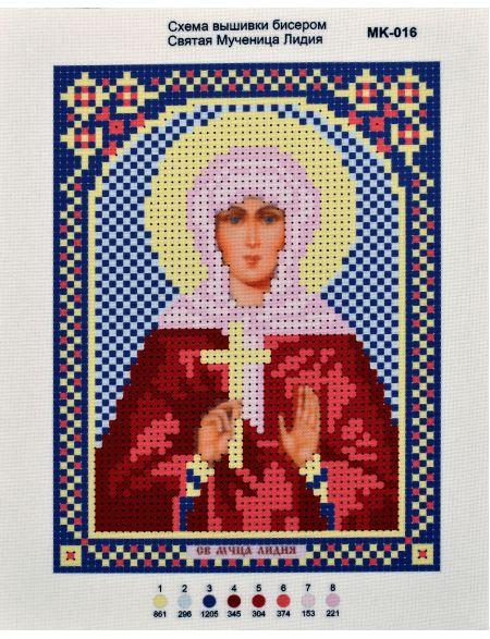 Схема для вышивания иконы бисером «Святая Лидия»