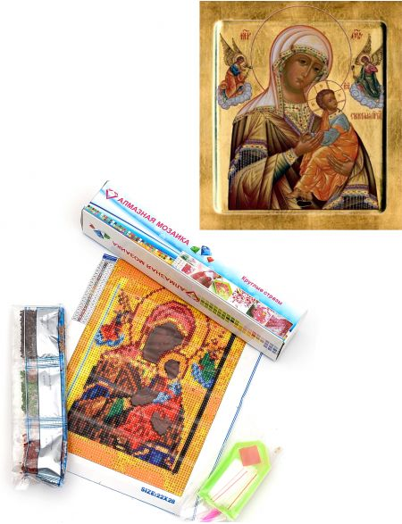 Алмазная мозаика «Божией Матери Страстная» икона