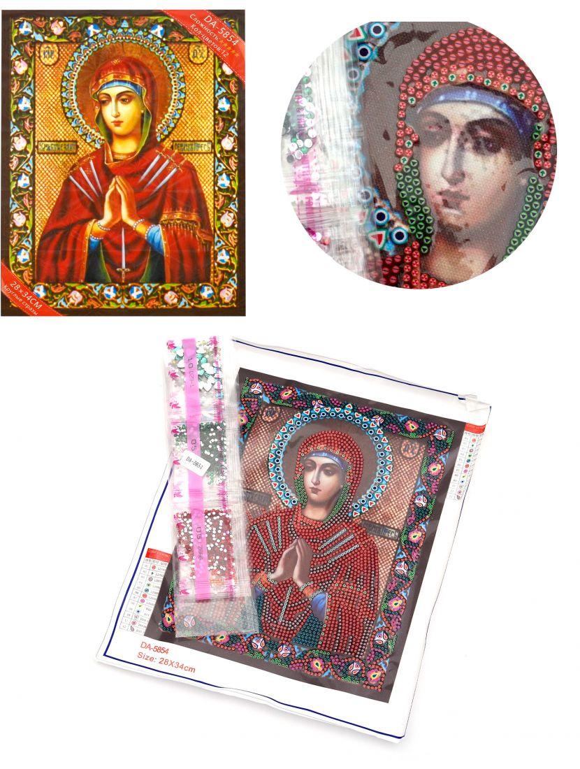 Алмазная мозаика с рамкой «Божией Матери Умягчение Злых Сердец» икона