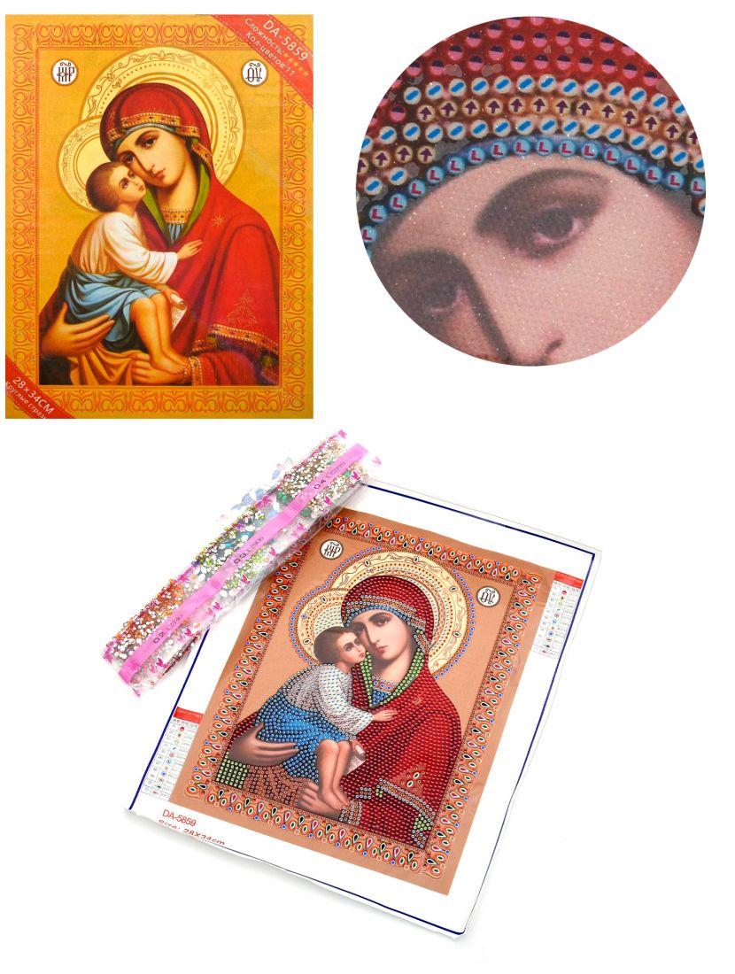 Алмазная мозаика с рамкой «Божией Матери Елеуса» икона