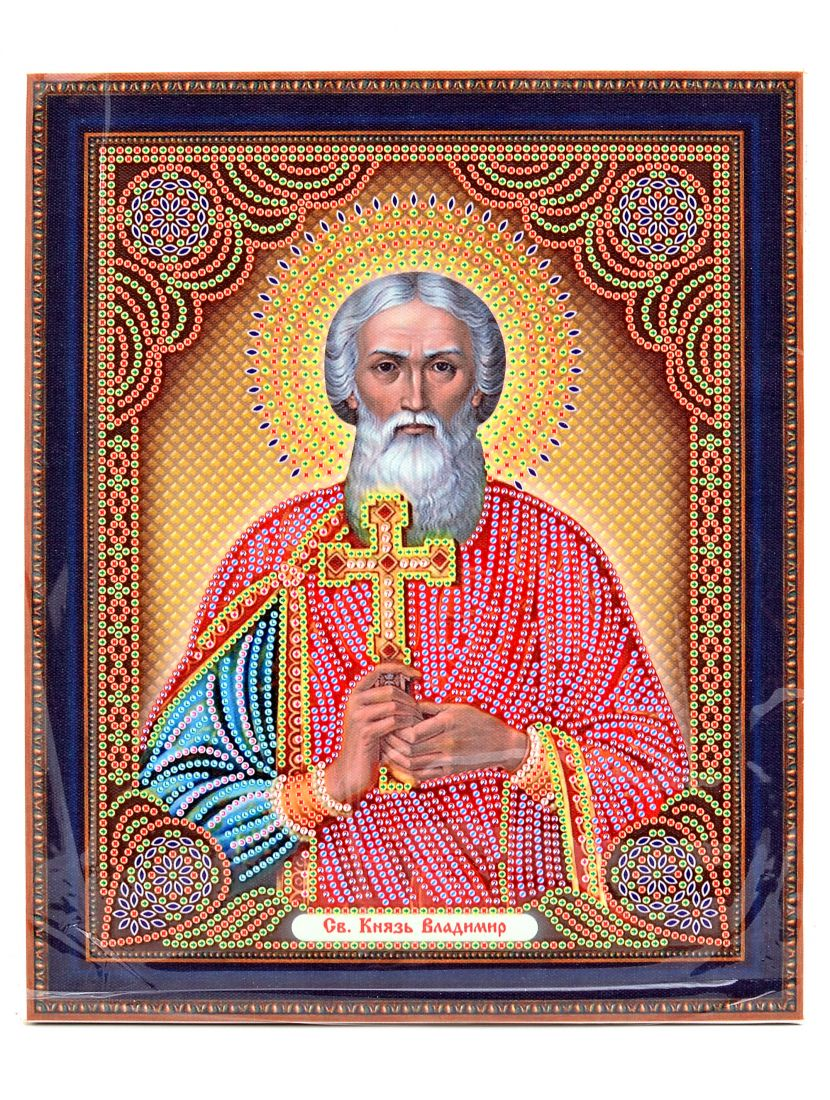 Алмазная мозаика на подрамнике «Князь Владимир» икона