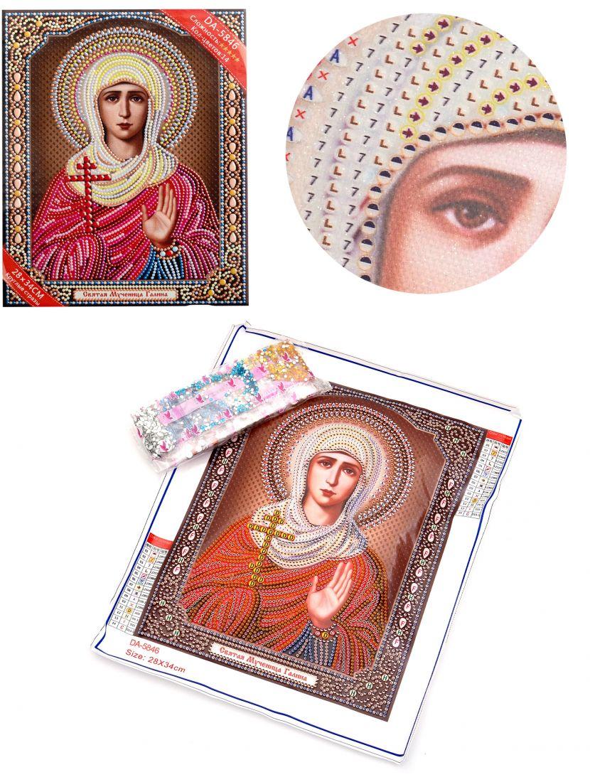 Алмазная мозаика с рамкой «Святая Галина» икона