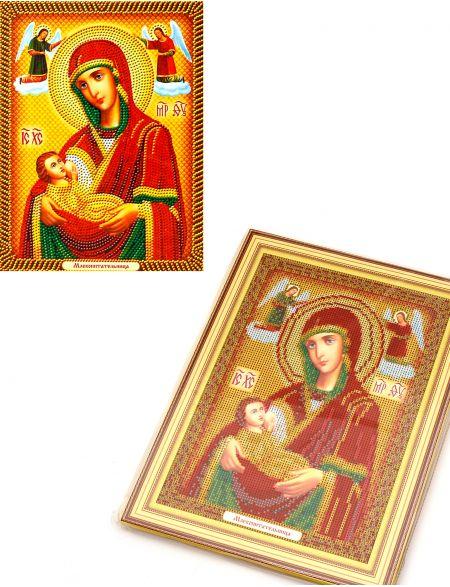 Алмазная мозаика на подрамнике «Божией Матери Млекопитательница» икона
