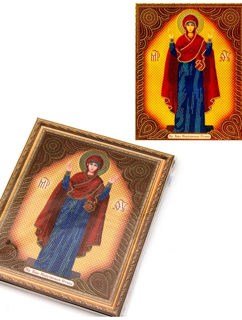 Алмазная мозаика на подрамнике «Божией Матери Нерушимая Стена» икона
