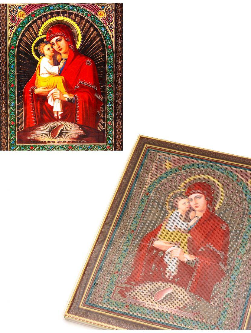 Алмазная мозаика на подрамнике «Божией Матери Почаевская» икона