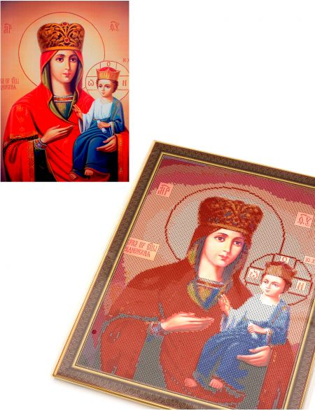 Алмазная мозаика на подрамнике «Божией Матери Руденская» икона