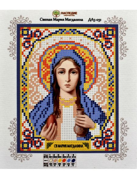 Схема для вышивания бисером «Святая Мария Магдалина» икона