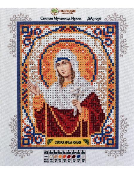 Схема для вышивания бисером «Святая Юлия» икона