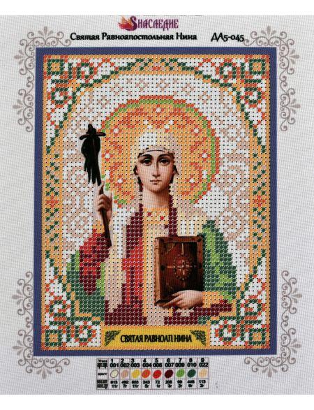 Схема для вышивания бисером «Святая Равноапостольная Нина» икона