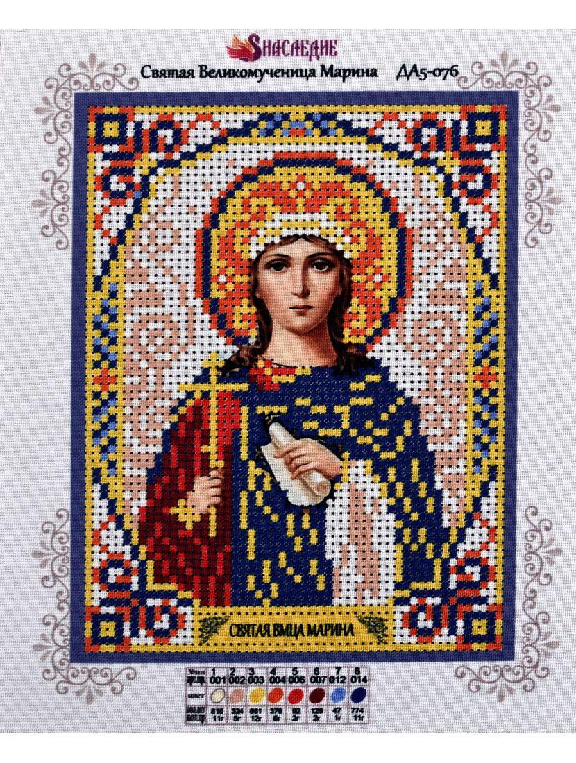 Схема для вышивания бисером «Святая Марина» икона