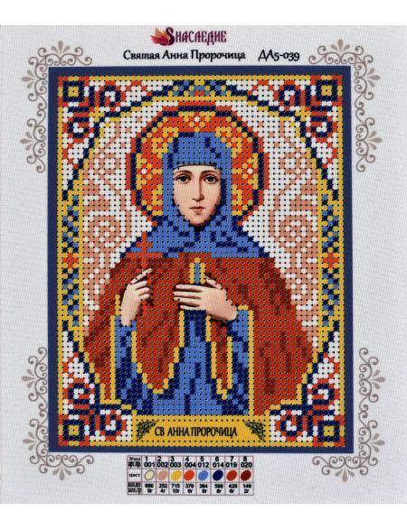 Схема для вышивания бисером «Святая Анна Пророчица» икона
