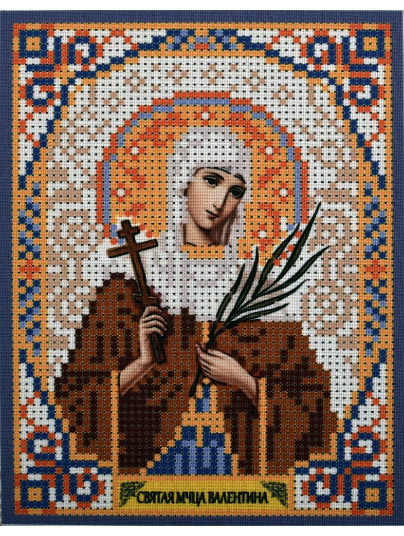 Схема для вышивания бисером «Святая Валентина» икона