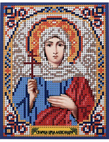 Схема для вышивания бисером «Святая Царица Александра» икона
