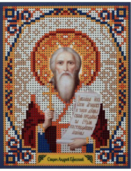 Схема для вышивания бисером «Святой Андрей Ефесский» икона