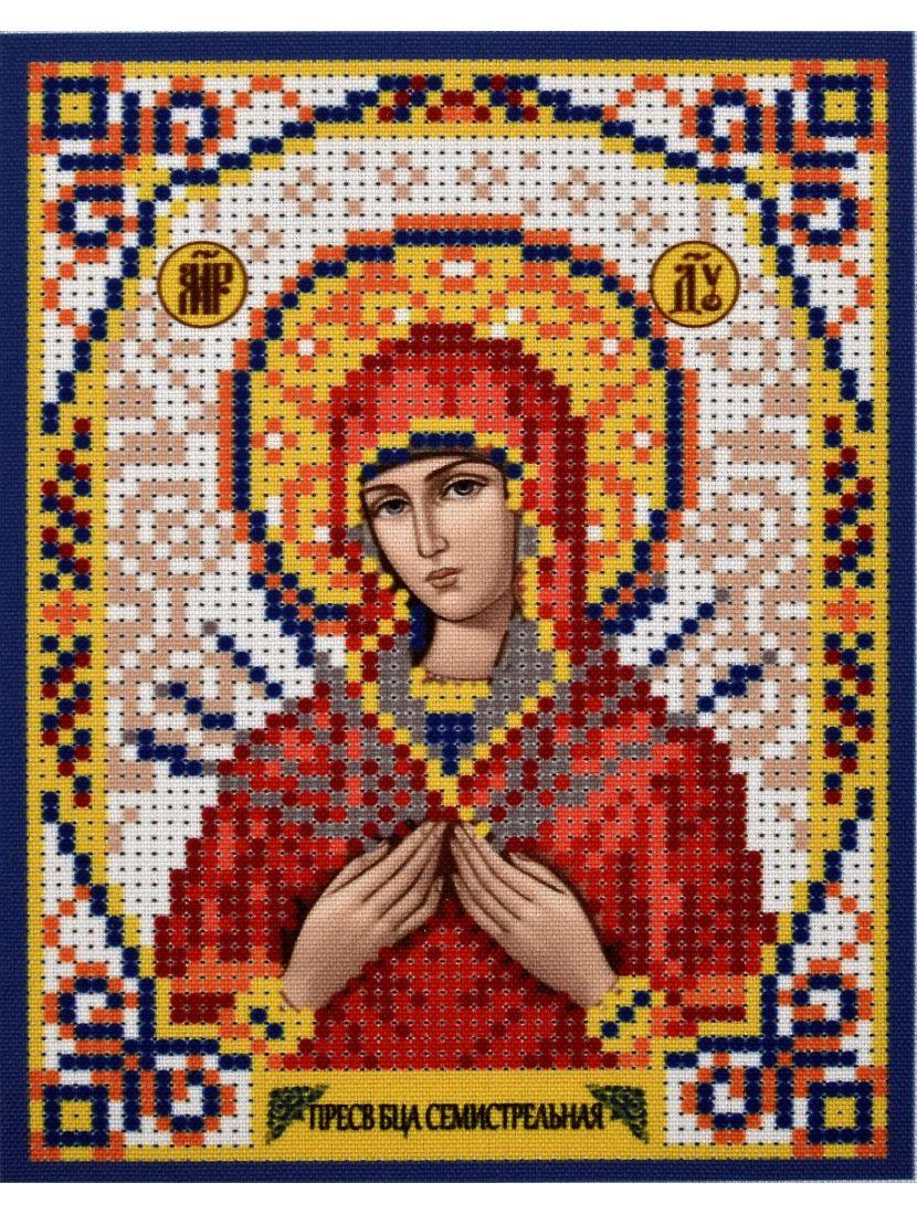 Схема для вышивания бисером «Божией Матери Семистрельная» икона