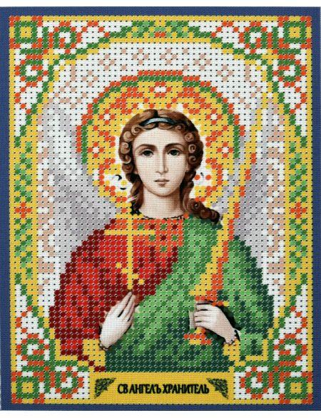 Схема для вышивания бисером «Ангел Хранитель» икона