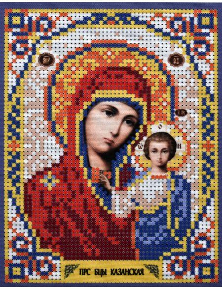 Схема для вышивания бисером «Божией Матери Казанская» икона