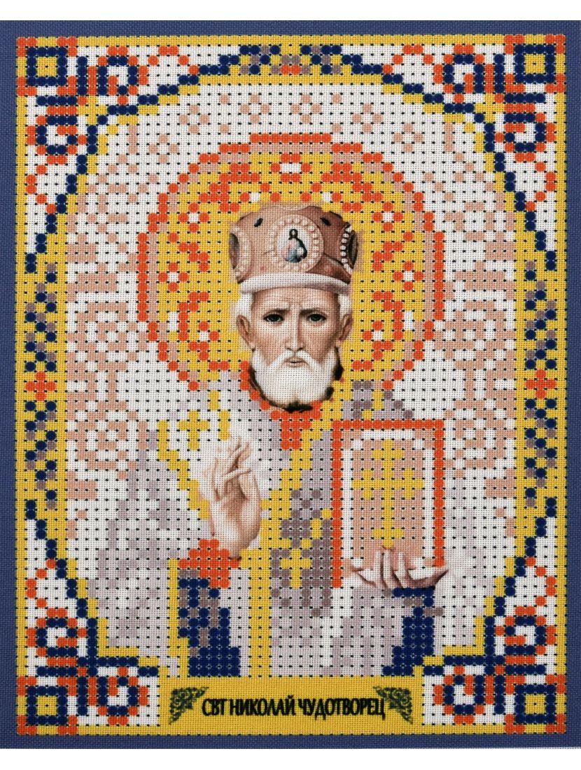 Схема для вышивания бисером «Святой Николай Чудотворец» икона