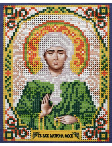 Схема для вышивания бисером «Святая Матрона Московская» икона