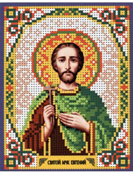Схема для вышивания бисером «Святой Евгений» икона