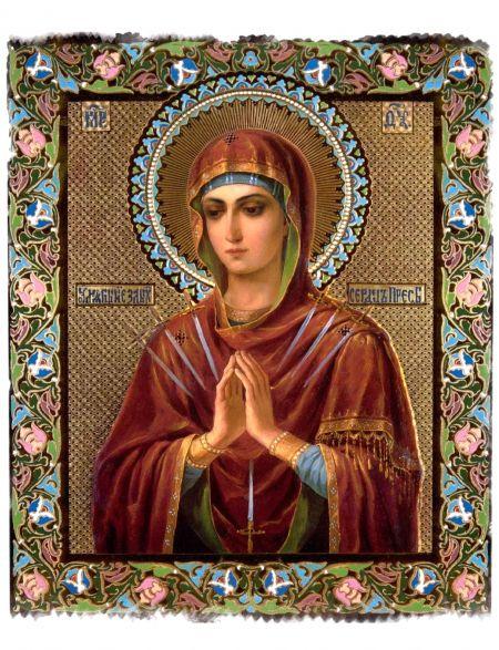Алмазная мозаика на подрамнике «Божьей матери. Умягчение злых сердец» иконы