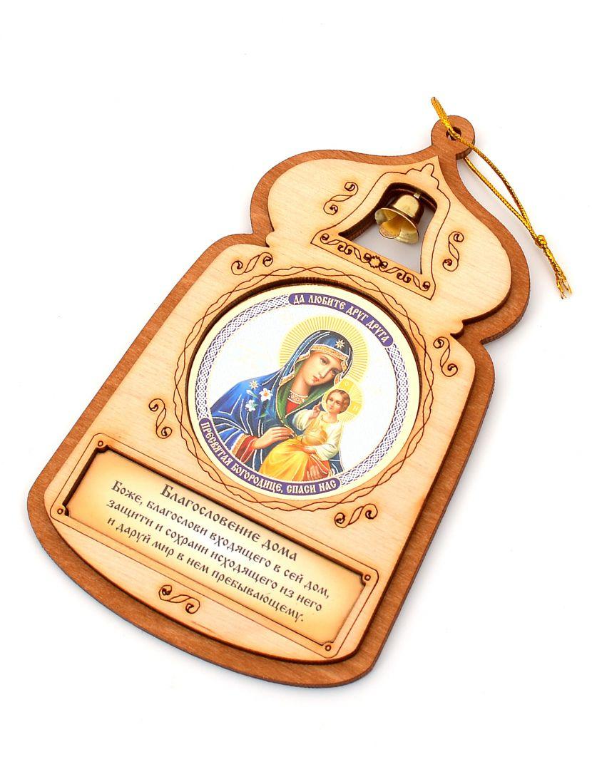 Оберег с иконой «Часовня. Богородица Неувядаемый цвет»