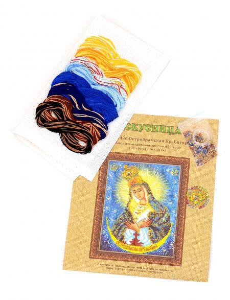 Набор для вышивания крестом и бисером «Икона Божией Матери. Остробрамская»