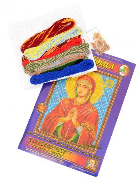 Набор для вышивания крестом и бисером 2в1 «Икона Божией Матери. Умягчение Злых Сердец»