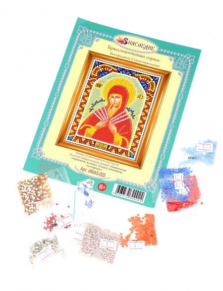 Алмазная мозаика «Божией Матери. Семистрельная» алмазная мозаика