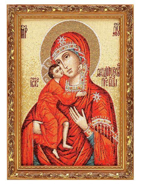 Икона гобелен «Божьей Матери. Феодоровская»