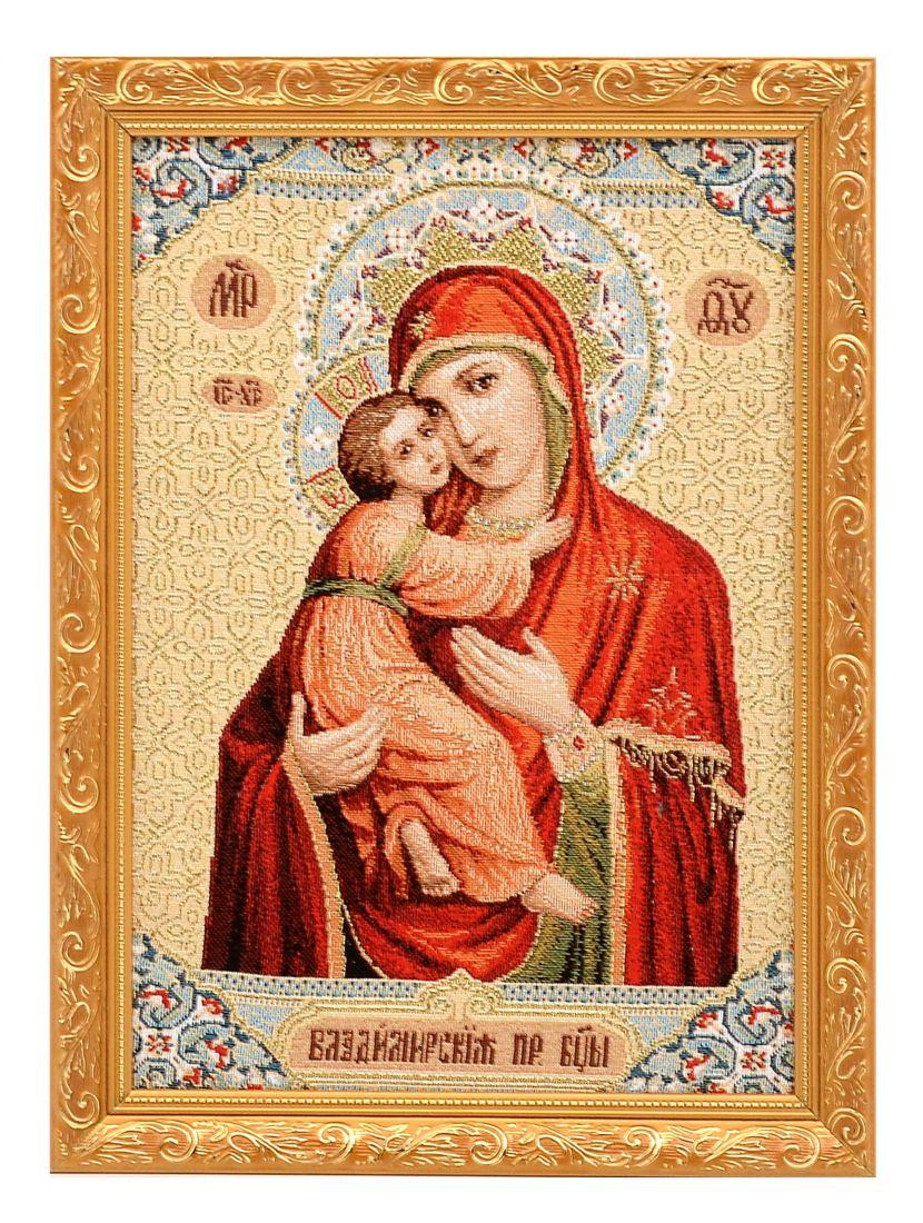 Икона гобелен «Владимирская Богоматерь»